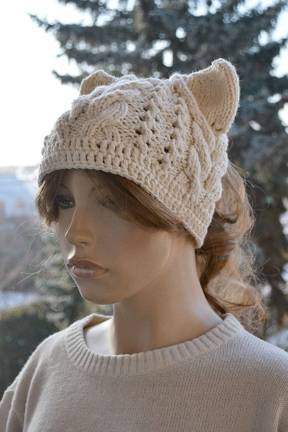 Messy Bun Hatcap Beanie Crocheted Ponytail Hole Hat  #messybunhat #crochethat by DosiakStyle