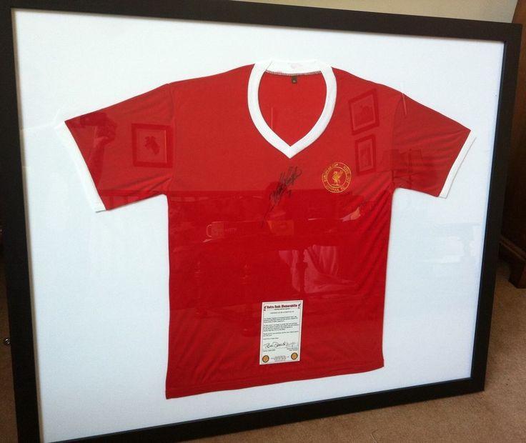 Large Framed Signed Kevin Keegan Liverpool Football Shirt