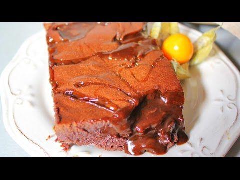 Шоколадный БРАУНИ с солёной карамелью - YouTube