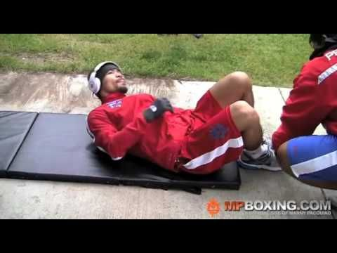 Manny Pacquiao Complete AB Workout DAY 4 US, 4 7 11   YouTube