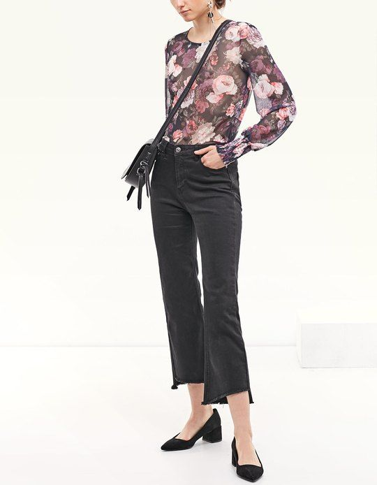 At Stradivarius you'll find 1 Floral print tulle top with puff sleeves for woman for just 92233720368547758.07 - 0 Other Countries . Visit now to discover this and more VIEW ALL.