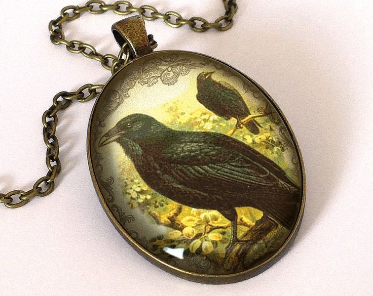 Victorian raven Big Necklace, 0675OPB from EgginEgg by DaWanda.com