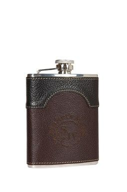 Maker's Mark: Two Tone Leather Flask.