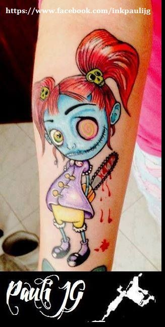 zombie new school Tattoo