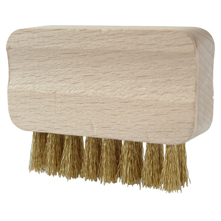 Klein handzaam staaldraadborsteltje om (snoei)scharen regelmatig mee schoon te borstelen en te ontroesten. Vormgeving voor extra grip.