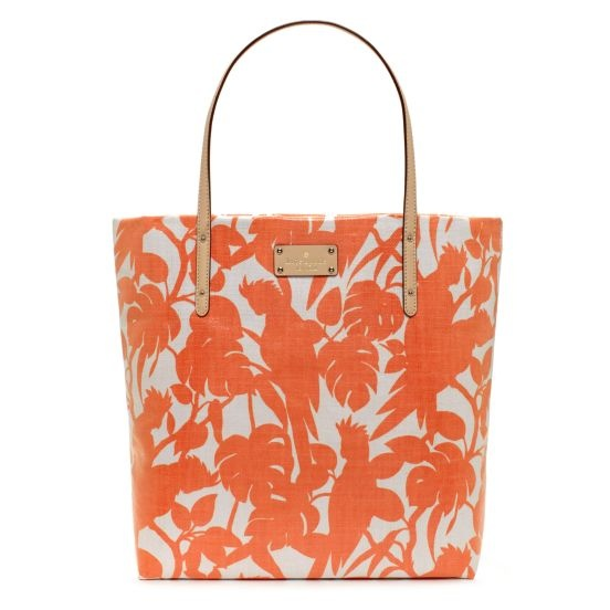 """I love this bag from Kate Spade! Great color! It's the """"Florence Broadhurst Cockatoo Bon Shopper."""""""