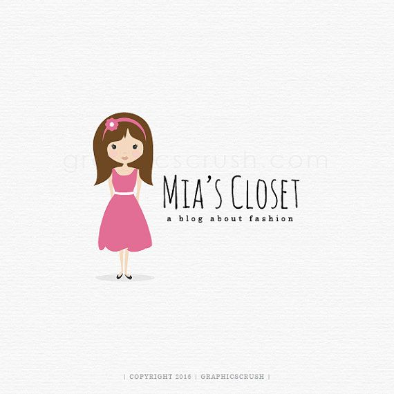 Logo del Blog de moda  ropa Boutique Logo  Logo de ropa para