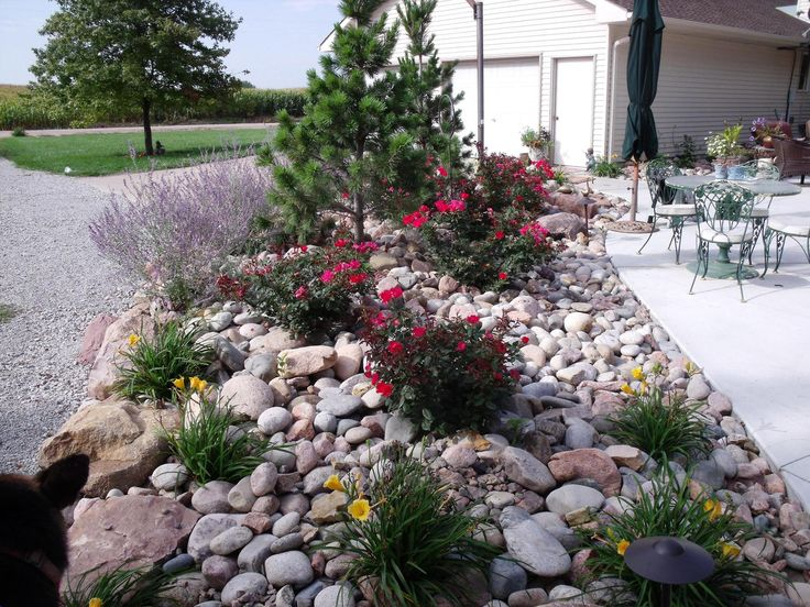 image of river rock landscaping ideas