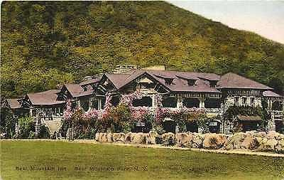 Bear Mountain Park New York NY 1920 Bear Mountain Inn Albertype Vintage Postcard