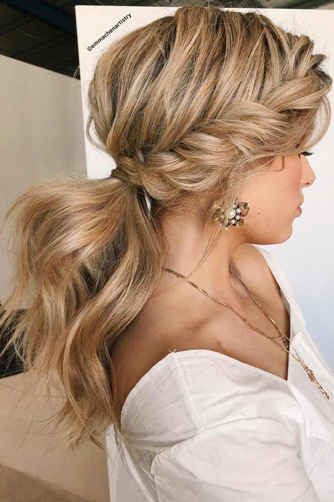 27 Flattering Hairstyles That Can Beautify Your Big Forehead Braided Hairstyles Cool Braid Hairstyles Braided Ponytail Hairstyles