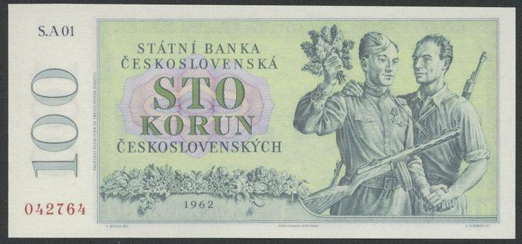 World money - Czechoslovakia 100 Czech koruna banknote - State Bank of…