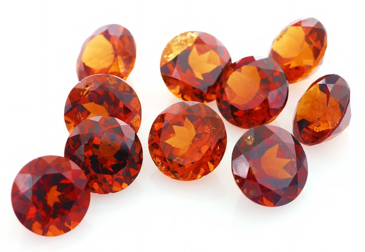 Hessonite is a golden orange variety of grossular garnet and an important astrological gem in Vedic Astrology known as Gomedh. Also known as cinnamon stone or cinnamon garnet, is the most common variety of grossularite. The name comes from the Greek hesson, meaning inferior which is an allusion to the lower hardness and density compared to most other garnet species.