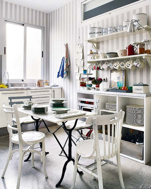 ikea brackets open shelves kitchen by The Estate of Things, via Flickr
