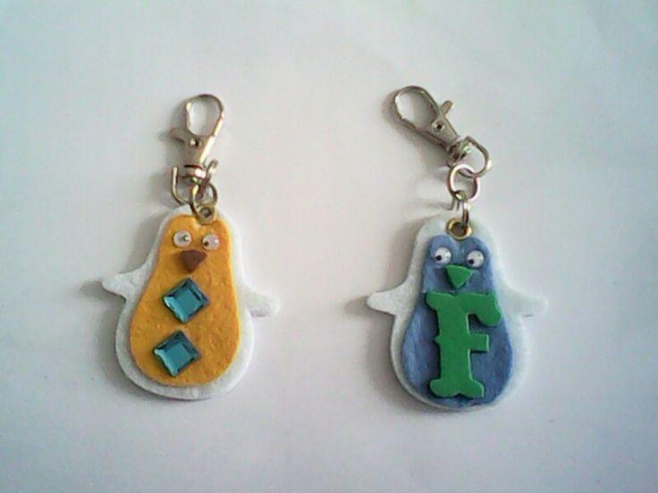 Portachiavi in vari materiali. Per info contattatemi via email: rdlmcl@hotmail.it#faidate#idee#pinguini