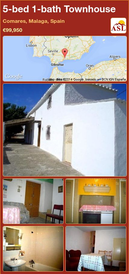 5-bed 1-bath Townhouse in Comares, Malaga, Spain ►€99,950 #PropertyForSaleInSpain