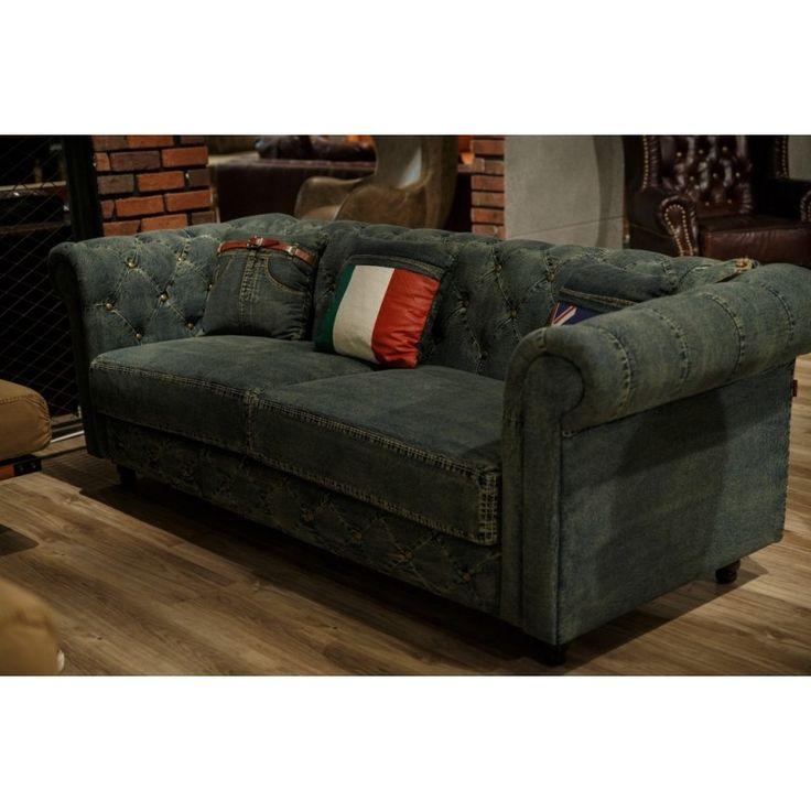 Bugatti 2 Seater Denim Couch