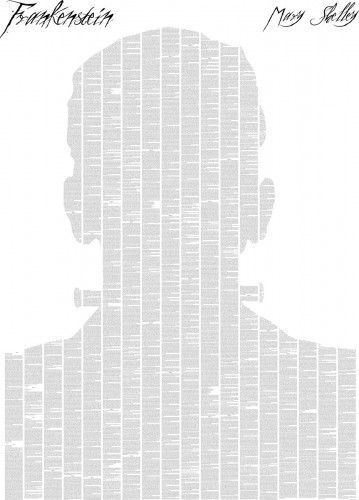 Frankenstein with title gothic novel poster - LOVE