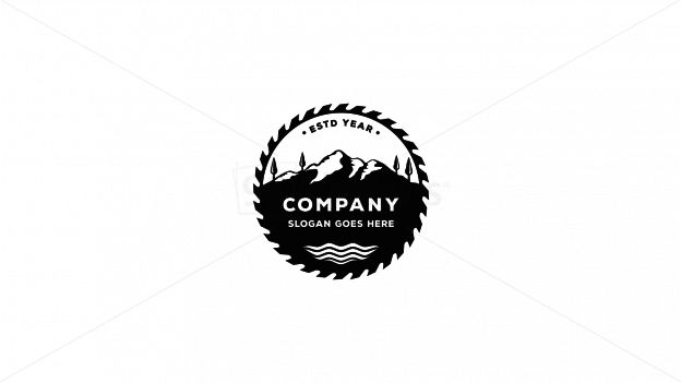 mountains and woods on 99designs Logo Store