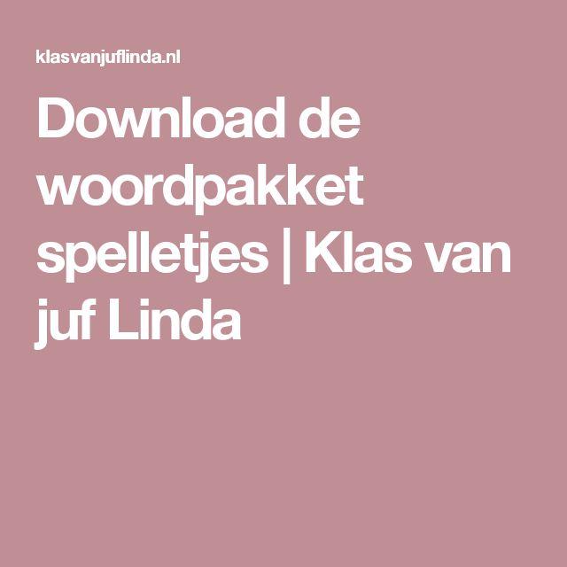 Download de woordpakket spelletjes | Klas van juf Linda