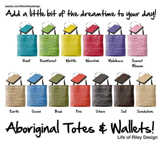 """Aboriginal Totes & Wallets!"" by lifeofrileydesign on Polyvore"