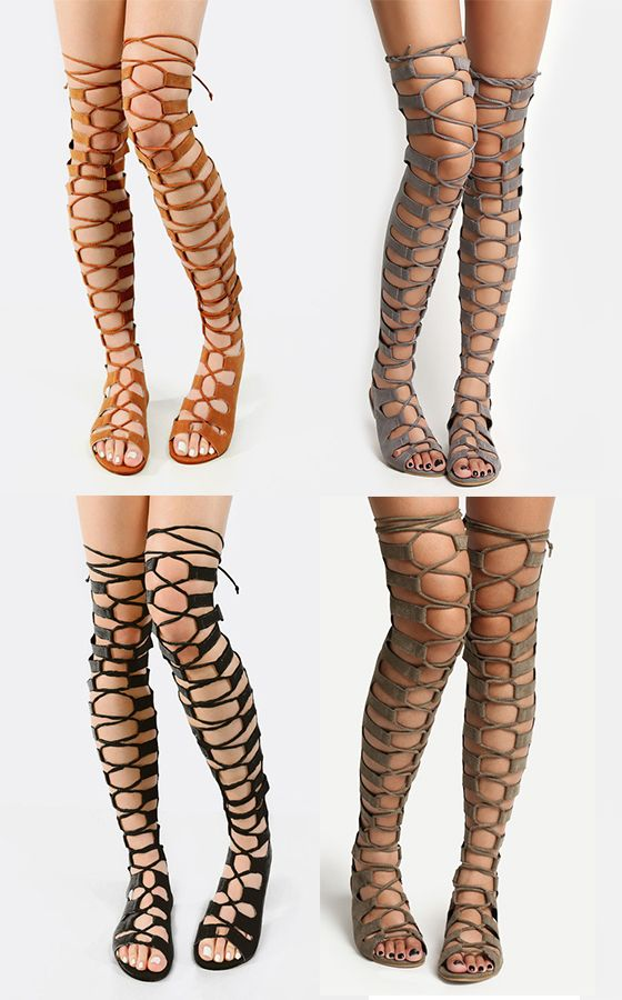 17 best ideas about Thigh High Gladiator Heels on Pinterest ...
