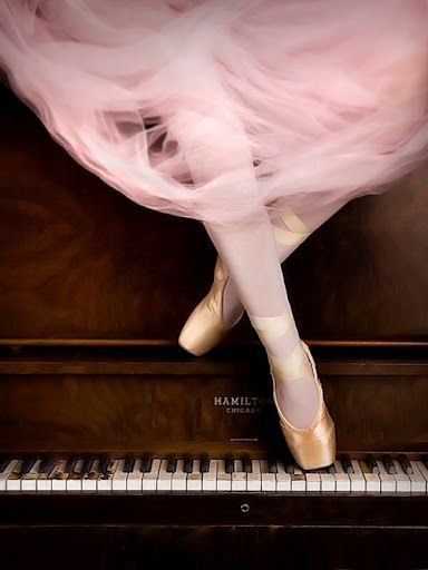 Pink tulle and #Pointe with piano