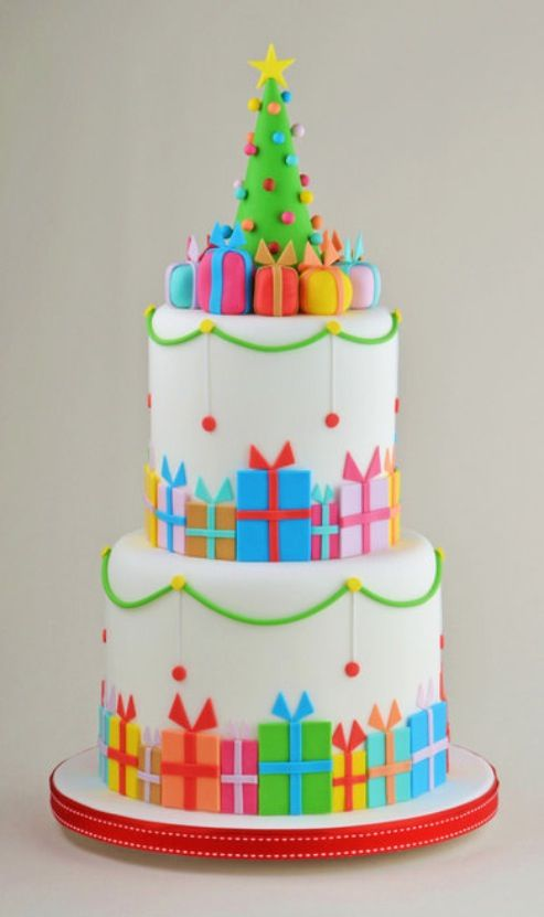 Christmas Parcel Cake by Cakes Decor