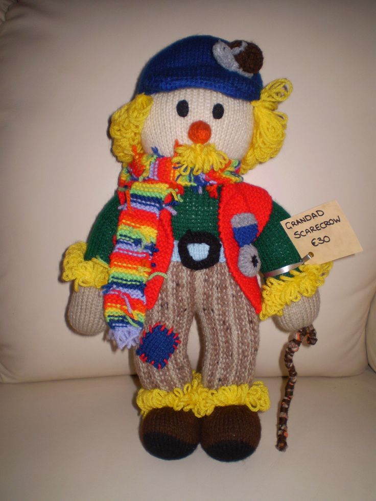 Grandad Scarecrow.35 cms high. Lots of detail. All are up for sale.