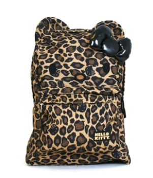 Girlzlyfe.Com - Hello Kitty Leopard Print Backpack