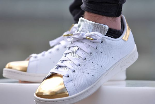 Adidas Stan Smith White Gold Metallic (2)