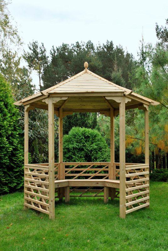 Drewniana altana Barley produkcji Jagram SA
