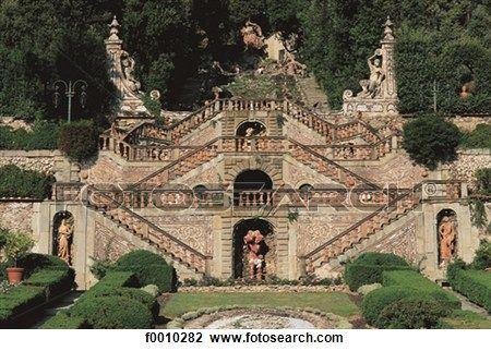 Lucca province, Collodi, villa Garzoni gardens