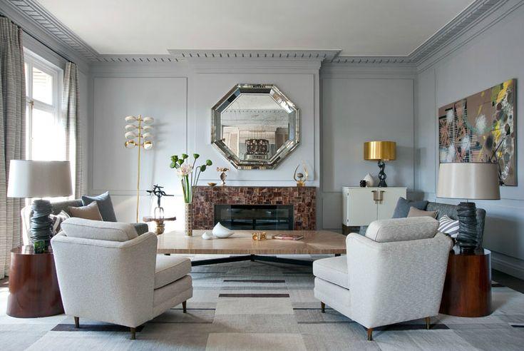 For the love of gray walls in any room style...     ***     Em nome da minha paixão por paredes cinza, em qualquer estilo...             ...