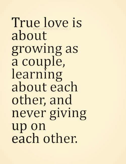Never Give Up On Each Other Quotes