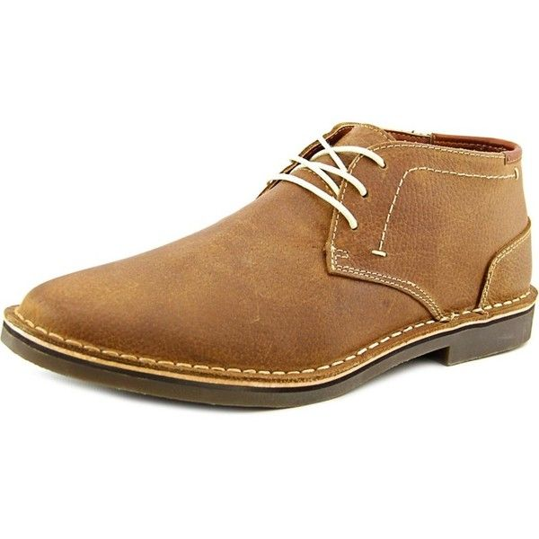 Kenneth Cole Reaction Kenneth Cole Reaction Desert Sun Men Round Toe... (1,405 MXN) ❤ liked on Polyvore featuring men's fashion, men's shoes, men's boots, brown, shoes, mens faux leather boots, mens brown boots, mens round toe shoes, mens leather shoes and mens leather boots