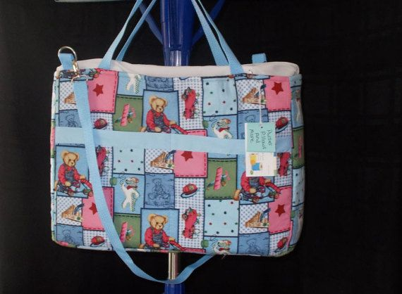Blue Jeans Teddy Bear  Blue and Pink Diaper Bag, Baby Boy diaper bag,Baby shower gift, Diaper Bag,Baby Girls diaper bag,gift for New baby