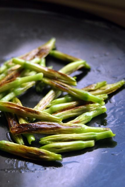 Pan Seared daylilies.  Some years ago when I learned about organic living, I did this.  Tasty, but it does keep the daylilies without as many bloom for you use the buds.