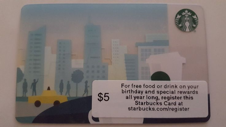 Starbucks Corporate Gift Card - NYC Skyline FREEDOM TOWER