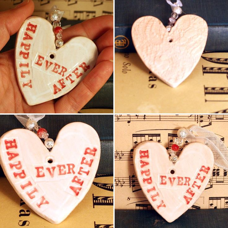 My Happily ever after love heart great for a wedding, anniversary or just because you love someone. Handmade in my Sussex Pottery.
