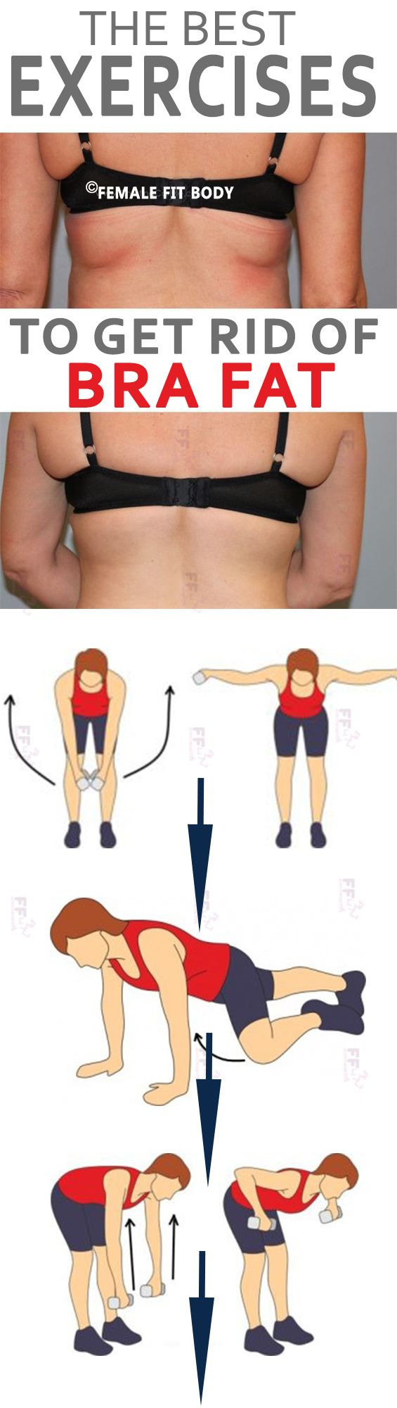 Bra bulge, back boob, back fat, whatever you want to call it, it's not cute.Just add a few of these exercises to your current workout routine to banish bra bulge for good!