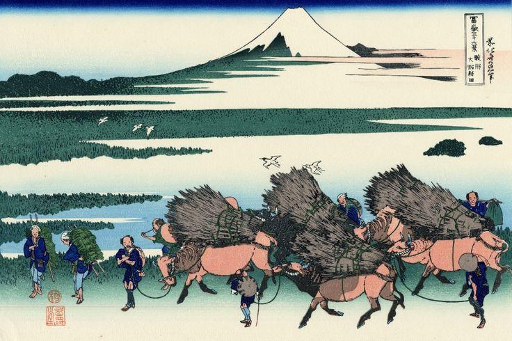 Katsushika Hokusai - 駿州大野新田-Sunshū Ōno-shinden