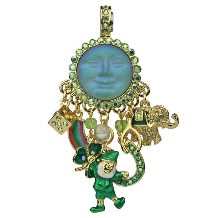 KIRKS FOLLY LUCKY CHARMS SEAVIEW MOON MAGNETIC ENHANCER leprechaun 4 leaf clover  | eBay