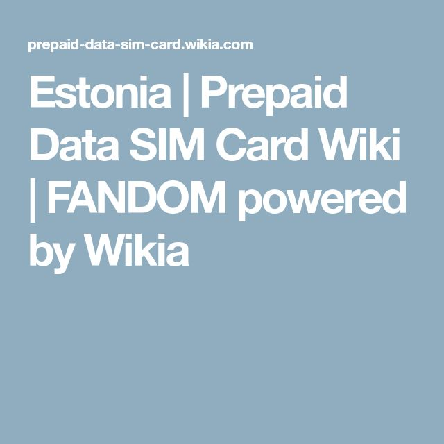 Estonia | Prepaid Data SIM Card Wiki | FANDOM powered by Wikia