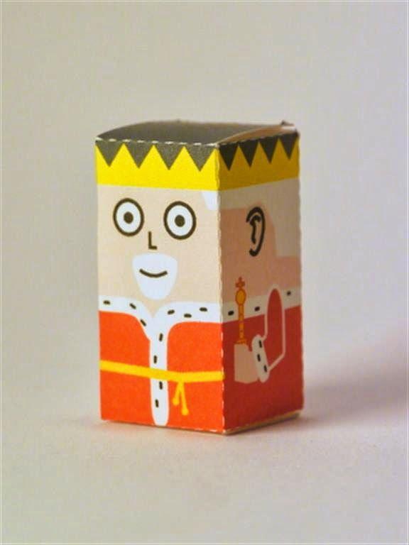 kerajinan gunting/tempel anak TK/SD, membuat sendiri kotak souvenir permen, raja bijaksana