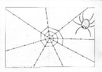 * Spinnenweb tekenen...