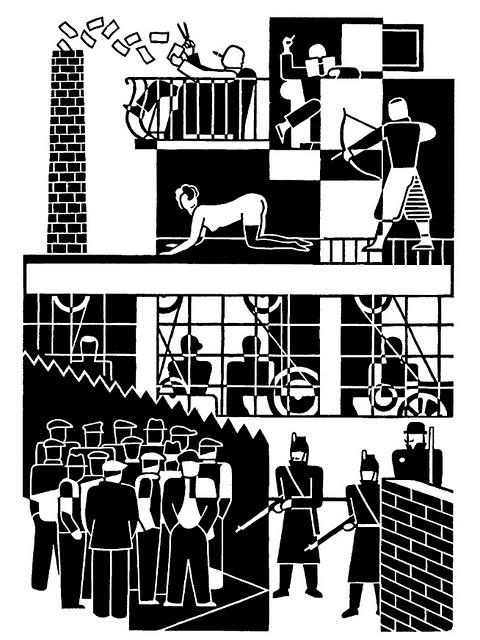 Gerd Arntz, Unemployed, 1931 woodcut.