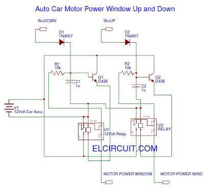 Auto Car Motor Power Window Circuit