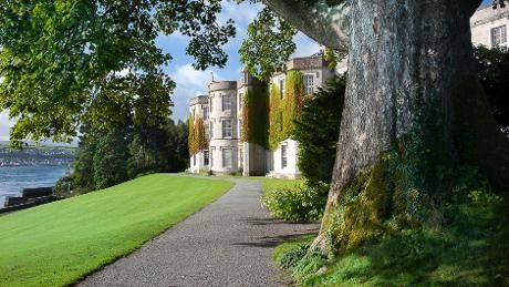 Exterior shot of the house at Plas Newydd Country House and Gardens, Anglesey, North Wales.