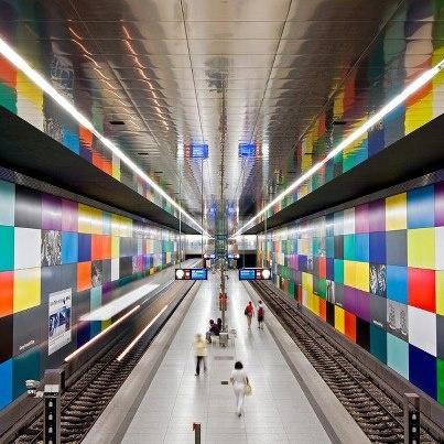 德國慕尼黑 Subway in Georg Brauchle Ring, Germany