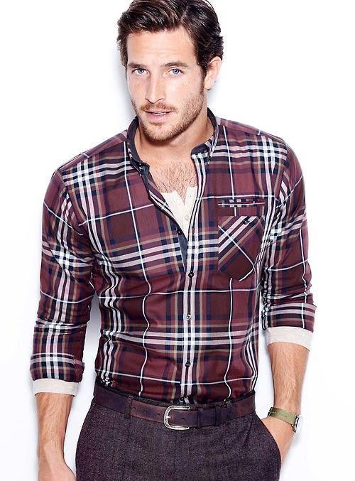 Outfits para hombre con camisa a cuadros 7e2c225ecef
